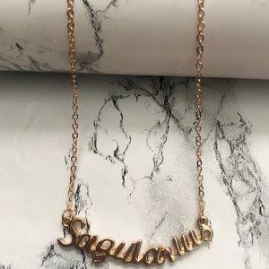 Sagittarius Horoscope Letter Pendant Necklace